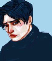 black turtleneck levi by Ospreyghost13