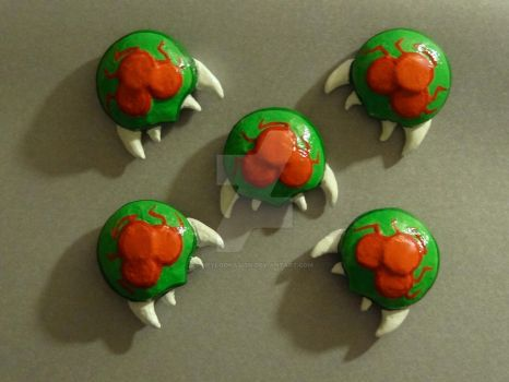 Clay Metroid Magnets