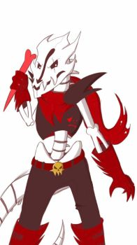 Underfell GB Papyrus by dragonfire1000