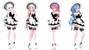 MMD Model Pack: TDA Lacy Haku, IA, Luka, and Miku by K-Manoc1