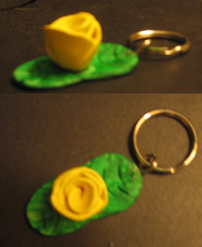 Yellow Rose Keychain by XindaNobody