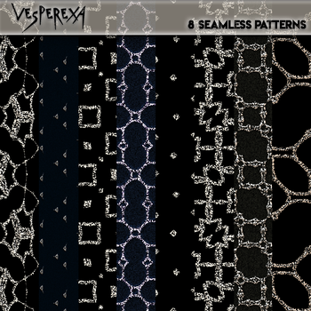 Jewelled Seamless Textures Pack 2 by Vesperexa