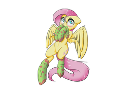 Fluttershy with socks by victoreach