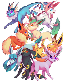 EEVEELUTIONS by Redrie