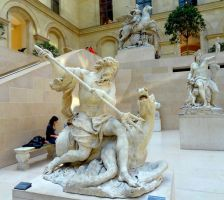 Among the Marble Statues - Le Louvre Museum, Paris by Cloudwhisperer67