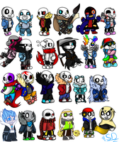 Undertale Aus Chibies by SanaeLovesDragonTale