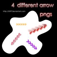 4 different arrow pngs pack by siti97
