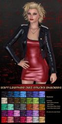 Pd-Soft Leather Daz Studio Shaders by parrotdolphin