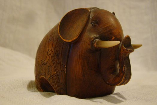 Wooden elephant 3 by Panopticon-Stock