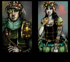 steampunk double by ThingWithEyes