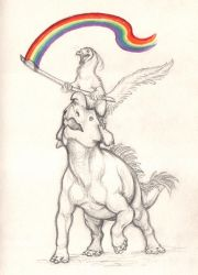 Pridesaurs by Paperiapina