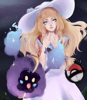 Lillie and nebby by yyureta