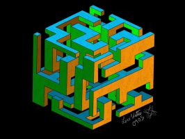Simple Complexity Cube Maze by viruswatts