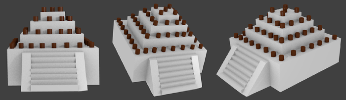 Square pyramids with chocolates 3D by XIZOR-1