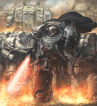 Darth Vader in the universe of Warhammer 40000 by concubot