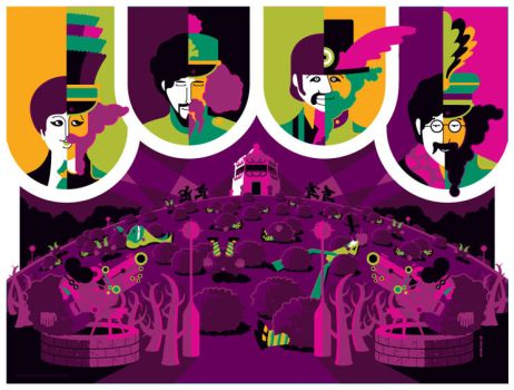 beatles: yellow submarine: pepperland variant by strongstuff