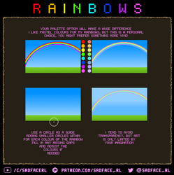 Pixel art tutorial - how to draw rainbows by SadfaceRL