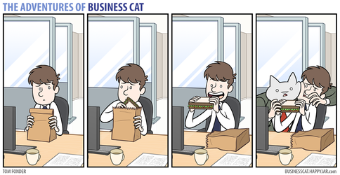 The Adventures of Business Cat - Sandwich by tomfonder