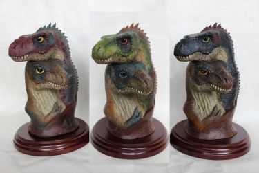 Tyrannosaurus Baby Mini Bust Variants updated by ak1508