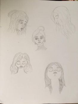 Head Sketches by erbyderby24