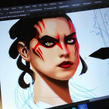 Darth Rey - wip by channandeller