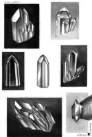 Quarz Crystal Sketches 01 by UnicatStudio