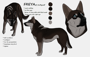 Ref Sheet ~ Freya by swiftywolf