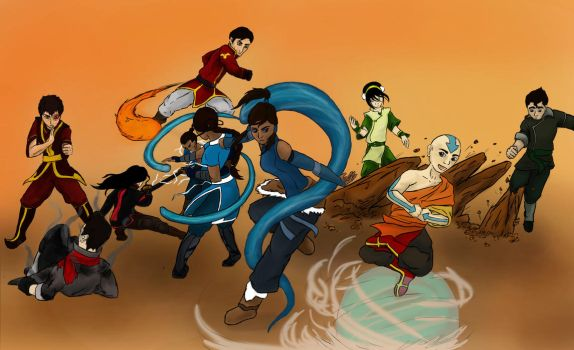 Team Avatar: Old and New by bluehorse-rmd