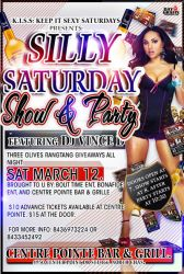 SILLY SATURDAY PARTY FLYER by mochadevil83
