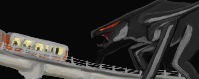 Muto goes to attack train by sealweal11
