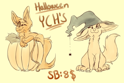 halloween YCH's (CLOSED) by sinnocturnal