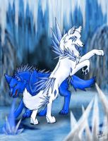 Ice Wolves by KanineAnimus