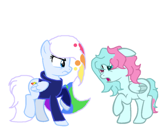 cotton and rainbow got into a fight by Emerald2002