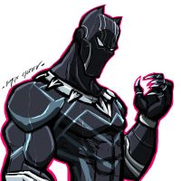 $15 COMMISSION SALE: BLACK PANTHER by Sabrerine911