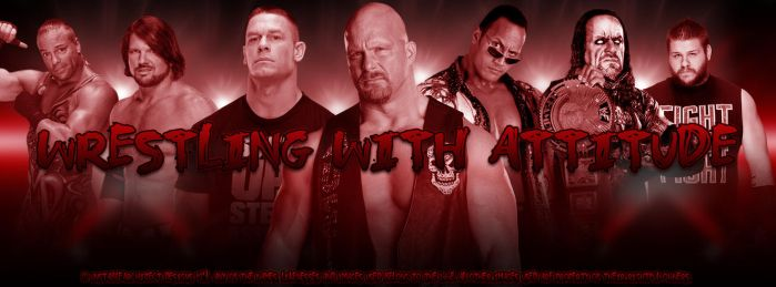 Wrestling With Attitude Facebook Page Cover by ChrisNeville85