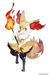 Braixen by bluekomadori