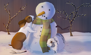 Snowman Abuse by TheVerdantHare