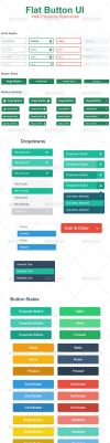 Flat Web Button UI by hanifharoon