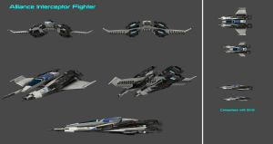 Superiority Interceptor Fighter Concept by nach77