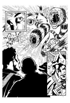 Dr Strange inks sample #2 by CanalesComics