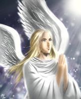 An Angel shall pray for all by Mami02