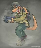 Soldier Dingo by TheInsaneDingo