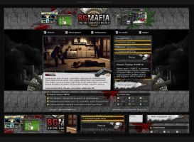 Webdesign - 'BGMafia' by CybertronicStudios
