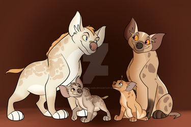 Hyena Family by 18Gingasoldier