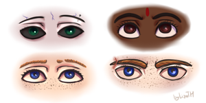 Eyes by lizathehedgehog