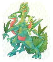 (PokemonGo Wishlist!) Treecko Family by Witchin