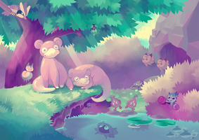 Pond by Pombei