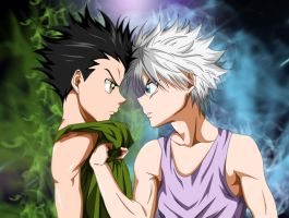 Gon vs Killua by Sam-Baten