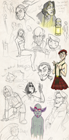 Sketch dump- August 2011 by gilll