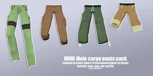 MMD male cargo pants pack+DL by Fina-Nz